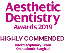 Elleven Dental Aesthetic Dentistry Awards 2019 - Highly Commended Interdisciplinary Orthodontic Surgical